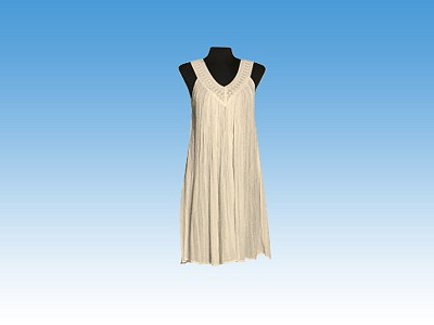 Lace Trim V short dress - Greek souvenirs