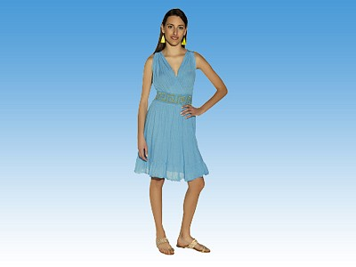 Short Crisscross Dress - Greek souvenirs